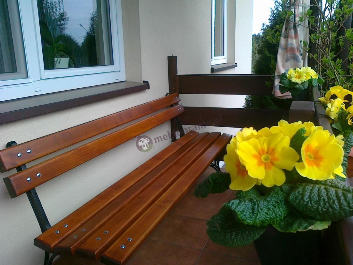 Gustowna ławka na balkon o długości 180cm