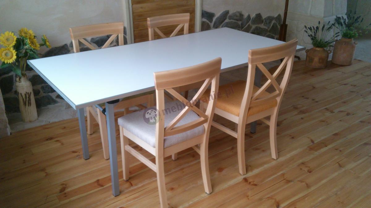 Gustowny stolik 180x90 cm w komplecie z krzesłami