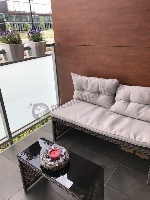 Kanapa ogrodowa na balkon Technorattan w dobrej cenie Canvas