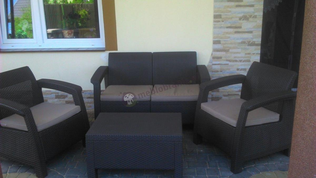 Komplet balkonowy z poduszkami Corfu Set Curver