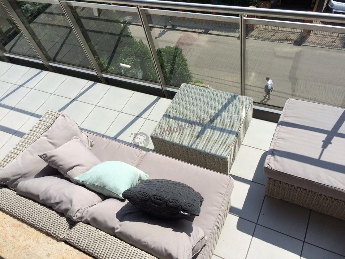 Komplety ogrodowe technorattan modułowe na balkony