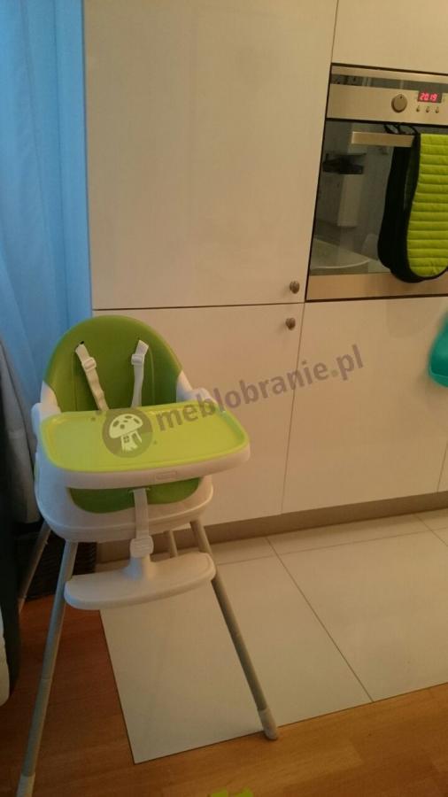 Krzesełka dla dzieci do karmienia zielone z szelkami