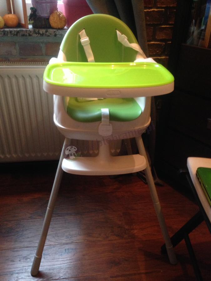 Krzesełko do karmienia dzieci Keter w zielonym kolorze