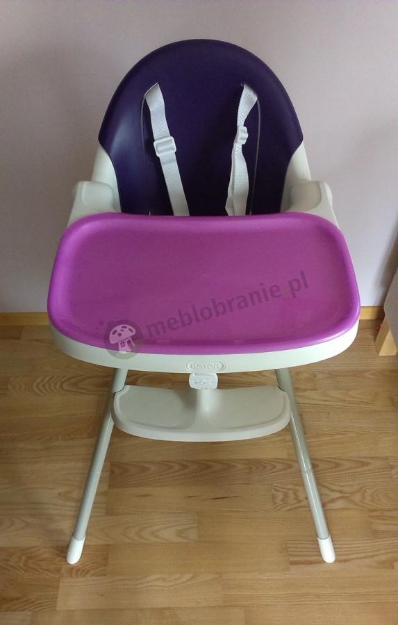 Krzesełko do karmienia Multidine fioletowe 90 cm