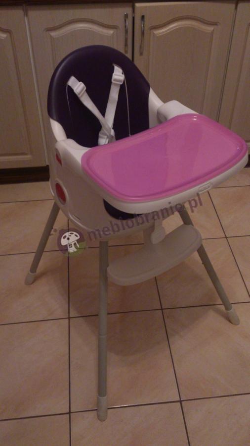 Krzesełko do karmienia w kolorze fioletowym