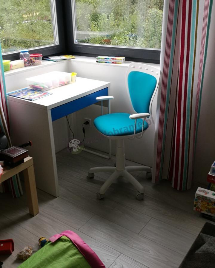 Krzesełko dziecięce obrotowe niebieskie Ministyle