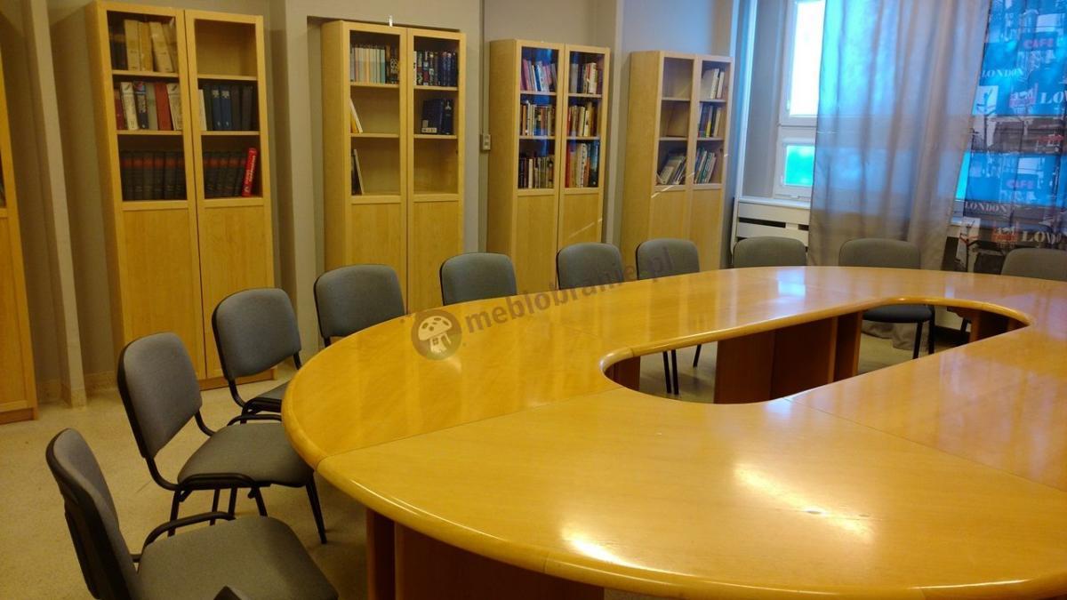 Krzesła biurowe konferencyjne tapicerowane szaro-czarne ISO