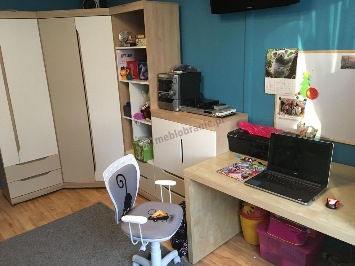 Krzesło do biurka dla dziecla Ministyle White Kot i Mysz