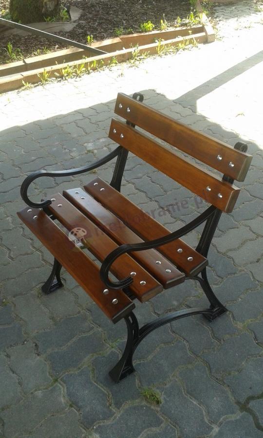 Krzesło ogrodowe drewniane z zestawu Faktor Plus