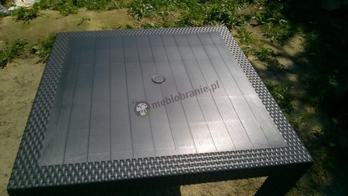 Kwadratowy stół ogrodowy Melody Quartet w kolorze grafitowym