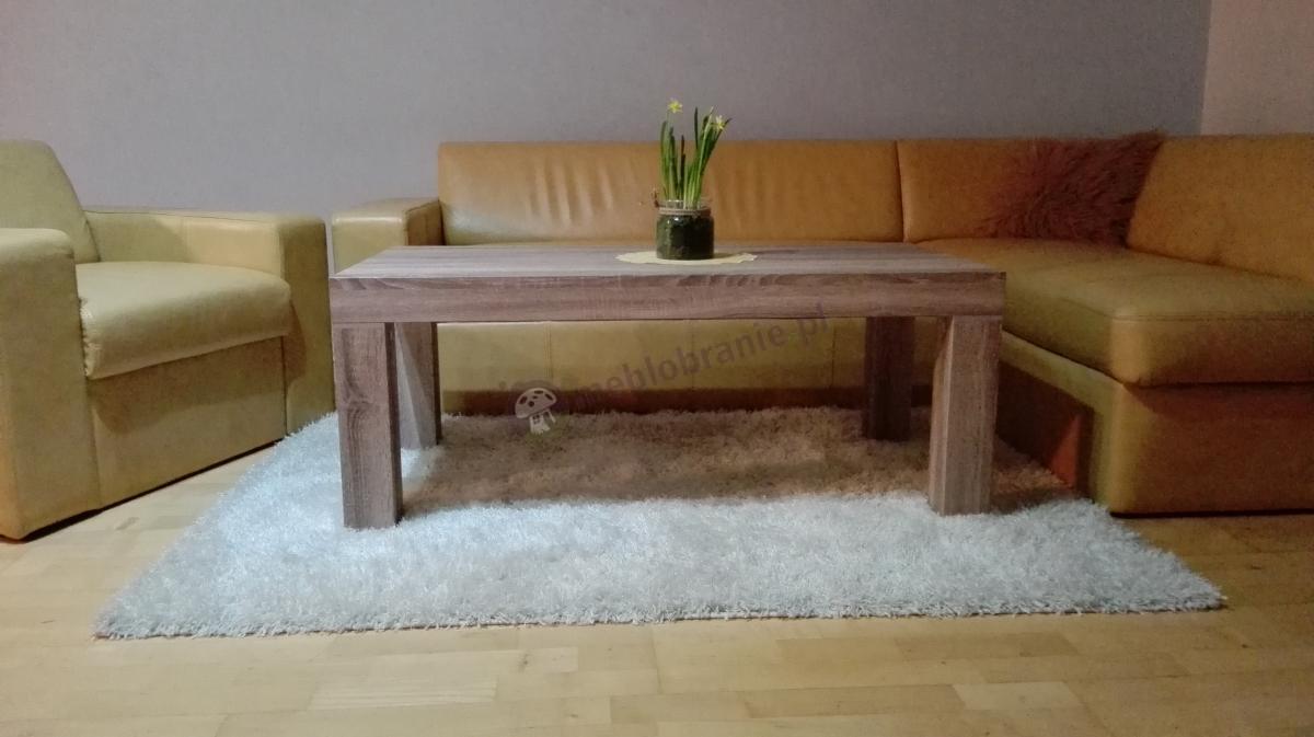 Ława dąb sonoma Monaco PR 120 w gustownym salonie