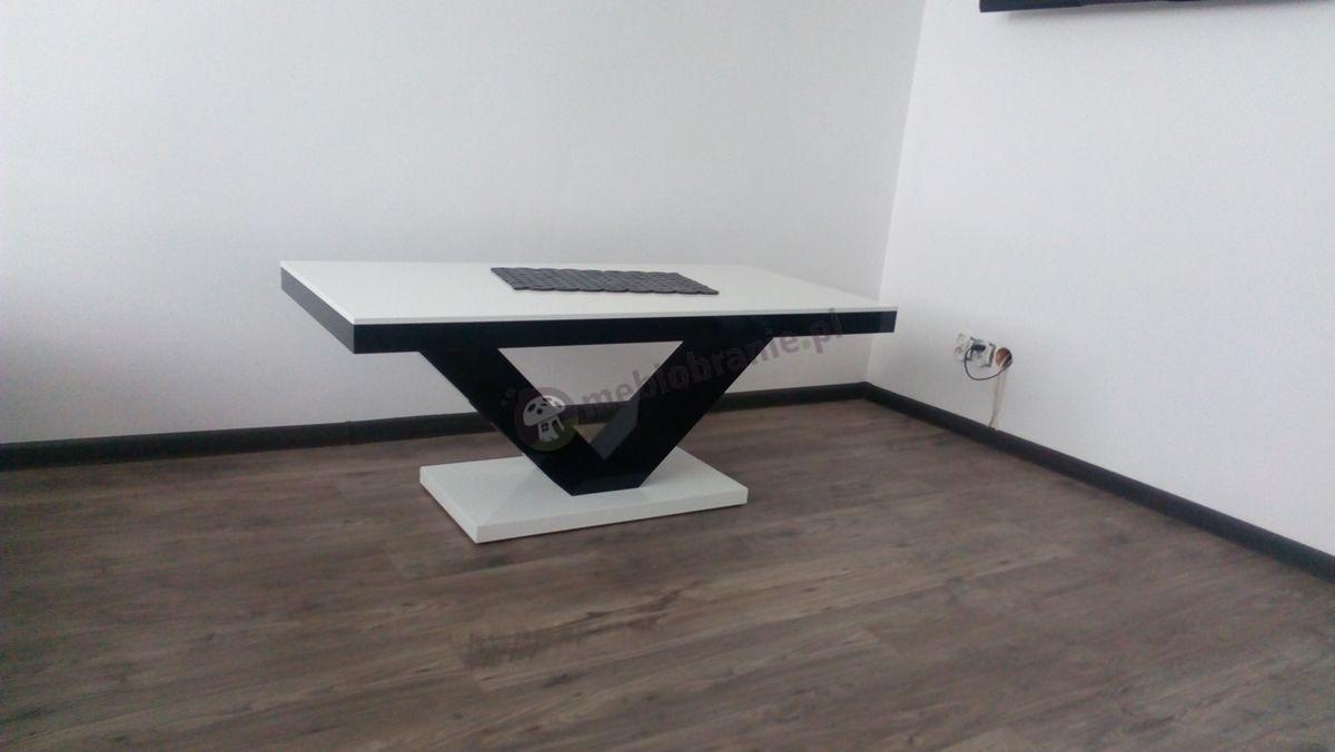 Ława do salonu biało-czarna Victoria Mini