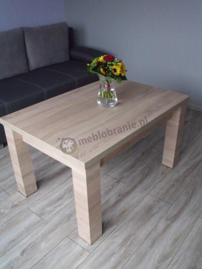 Ława drewniana do salonu w odcieniu dąb sonoma