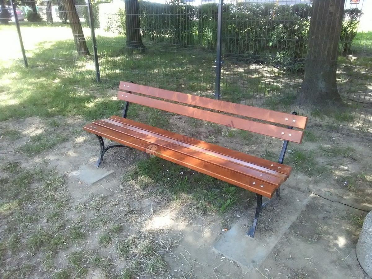 Ławka ogrodowa żeliwna drewniana 180 cm w parku