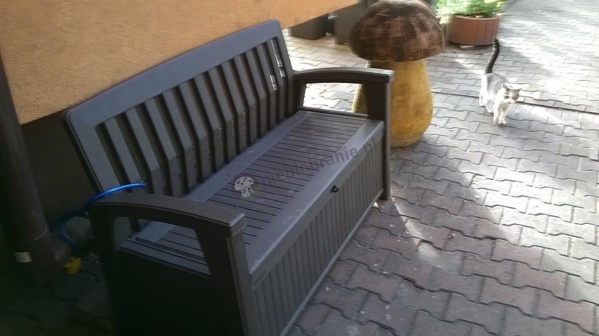Ławka z oparciem na balkon Keter Patio Bench