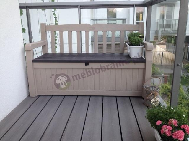 Ławka ze skrzynią z tworzywa sztucznego na balkon Eden Garden