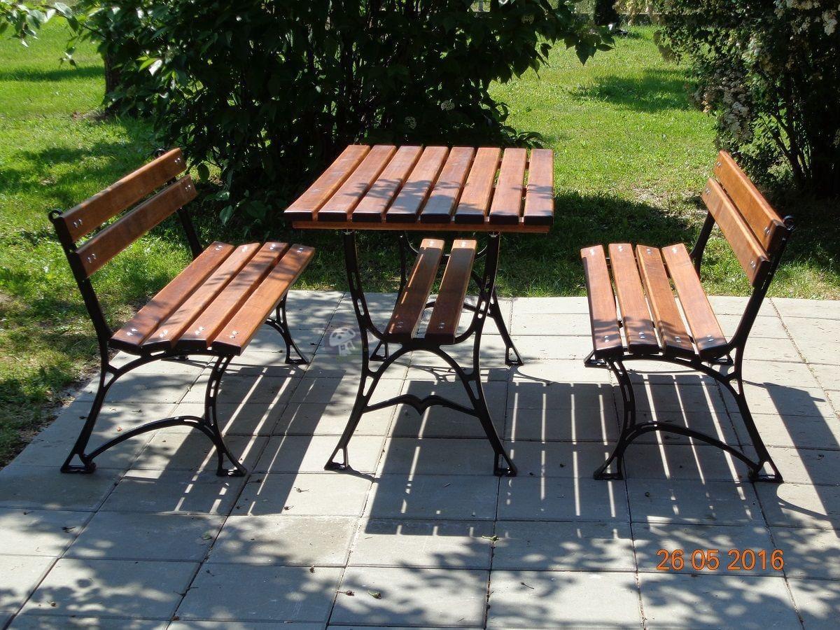 Ławki ogrodowe żeliwne w komplecie ze stołem