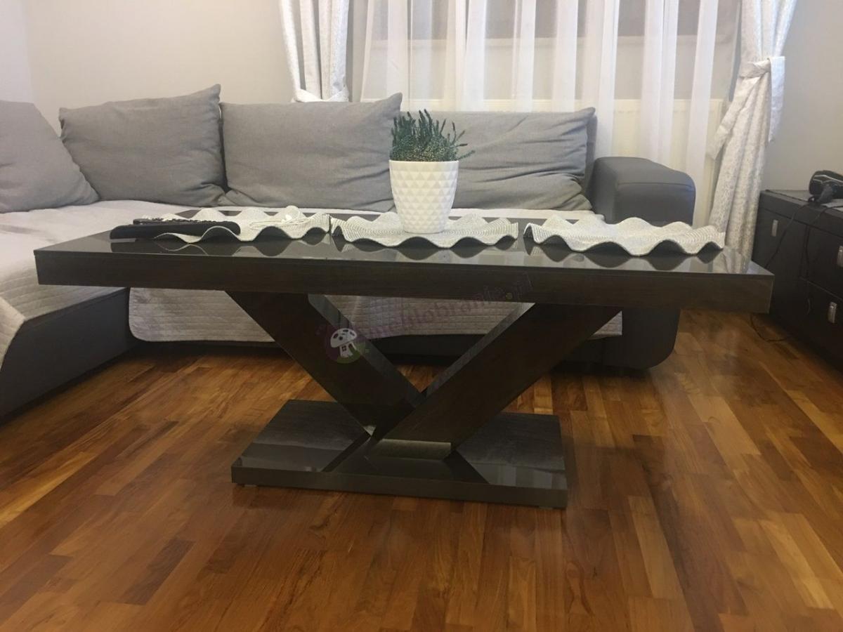 Ławy stylowe do salonu na wysoki połysk Victoria Mini
