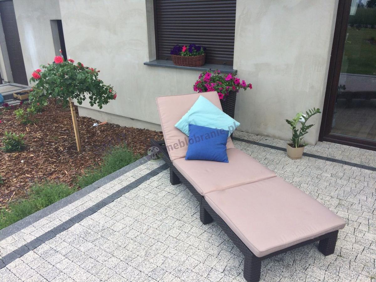 Leżak balkonowy składany z poduszkami Daytona