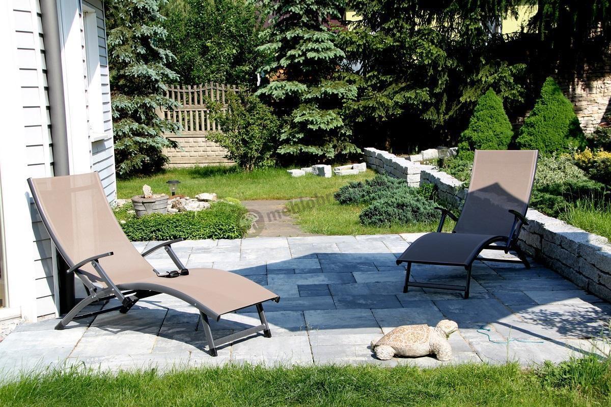 Leżak do ogrodu Relax z regulowanym oparciem
