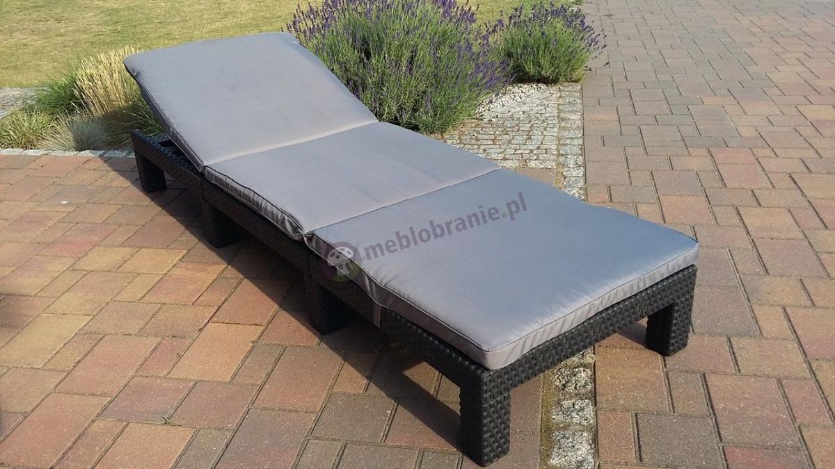 Leżak modułowy z poduszką z oparciem regulowanym w 4 stopniach
