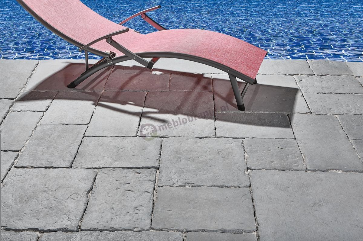 Leżak na basen aluminiowy z textiline