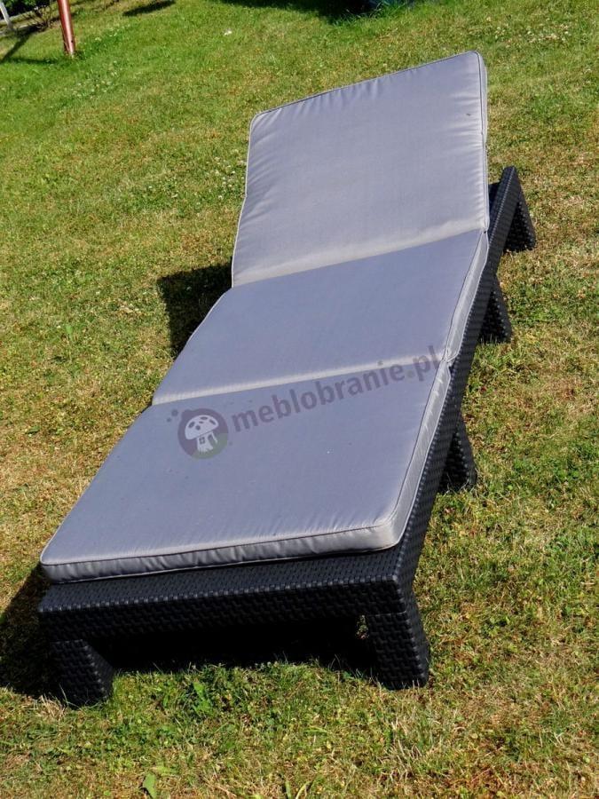 Leżak ogrodowy z poduszką grafitowy Daytona