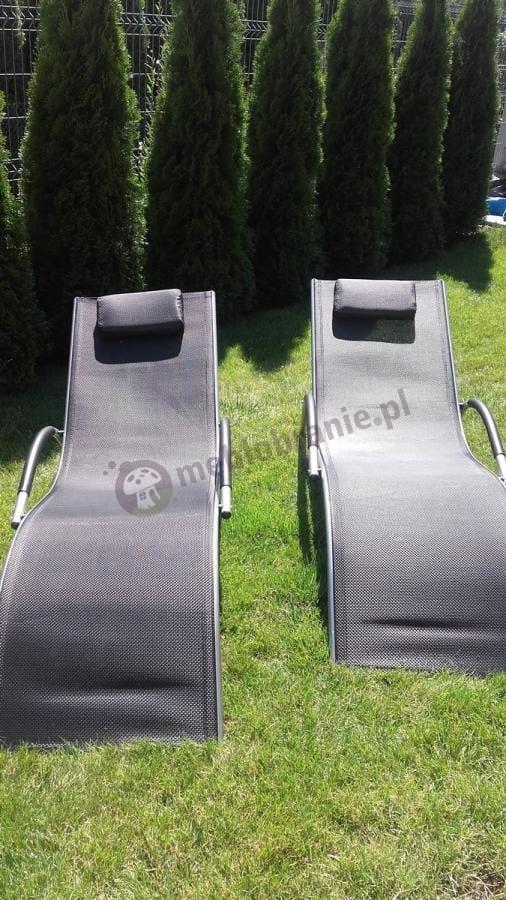 Leżaki ogrodowe z aluminium wykładane textiline