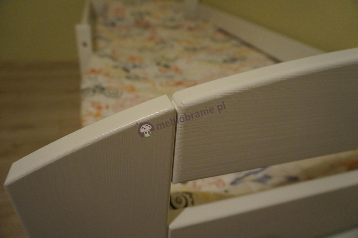 Łóżko drewniane dla dziecka sosnowe pomalowane na biało