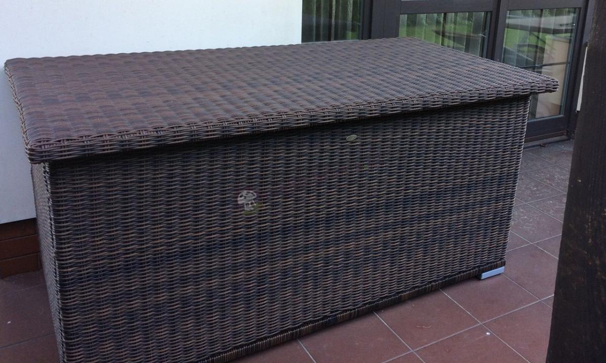 Luksusowa skrzynia ogrodowa na poduszki Rattan Style Ligurito 160 Brown Elite