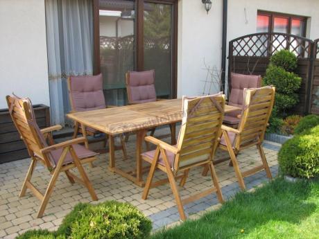Beżowe Poduszki Na Meble Ogrodowe Drewniane Rozkładane