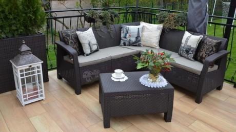 Eleganckie meble na taras narożnik ogrodowy Corfu Relax Set