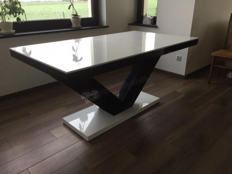 Funkcjonalny stół Victoria wysoki połysk