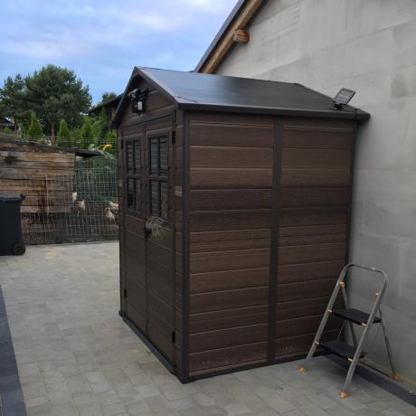 Gotowy ogrodowy domek narzędziowy Keter Scala 6x5DD