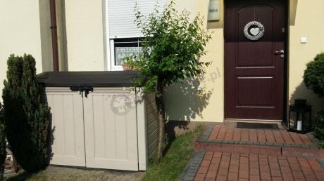 Keter szafa ogrodowa z okrągłym daszkiem i zamkiem