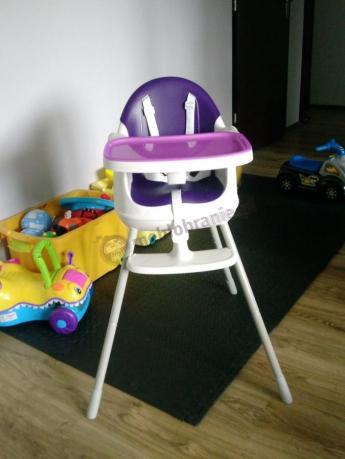Krzesełko dla niemowlaka Keter Multidine z separatorem fioletowe