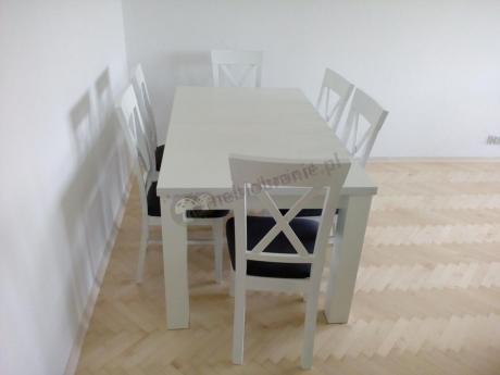 Bardzo dobra Biały stół i 6 krzeseł Amelia 160-K6 (X) - Meblobranie.pl PP52