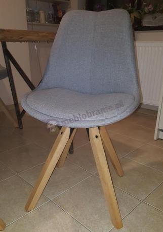Krzesło Actona Dima jasnoszare skandynawskie