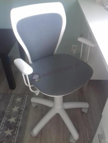 Krzesło obrotowe dziecięce białe Ministyle