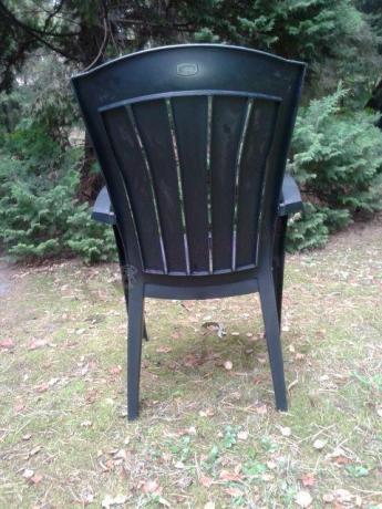 Krzesło ogrodowe Santorini widok od tyłu