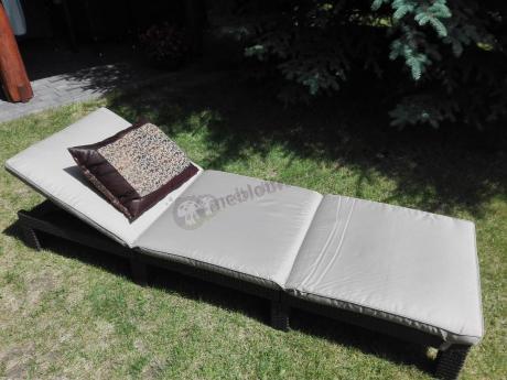 Leżanka wypoczynkowa z poduszką Daytona Allibert brązowa