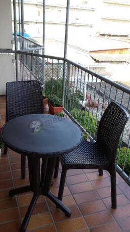 Meble Balkonowe Rattan Efekt Bistro Set Keter Aranżacje