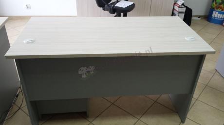 Meble biurowe marki Svenbox w eleganckim kolorze klon-popiel