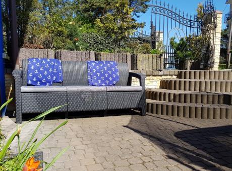 Meble Corfu Set Max sofa ogrodowa na taras Corfu technorattan