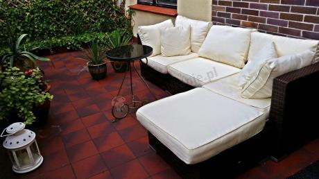 Meble technorattan na taras sofa modułowa Nilamito Brown