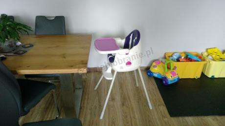 Nowoczesne krzesełko do karmienia fioletowe Keter Multidine