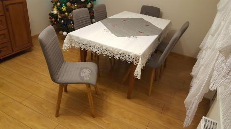 Nowoczesne krzesło tapicerowane drewniane Actona Arosa