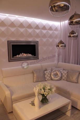 Panele ścienne Dekoracyjne 3d Diamonds W Nowoczesnym Salonie