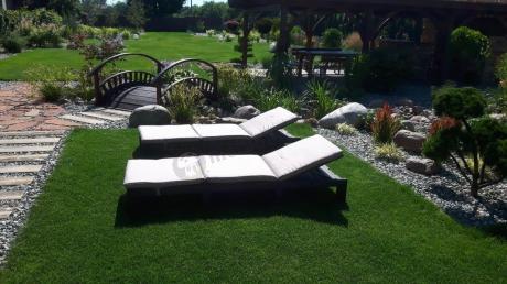 Plastikowe leżaki ogrodowe z poduszką Daytona Allibert Brązowy