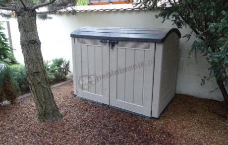 Pojemna ogrodowa szafa z otwieranym dachem Keter Store-It-Out ULTRA
